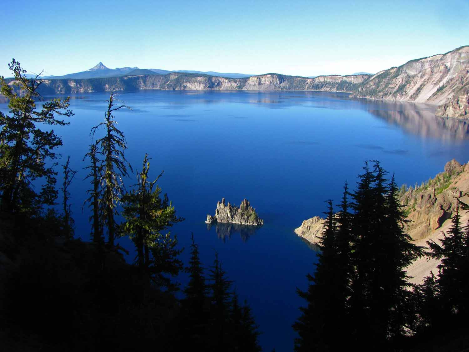 Crater Lake's Phantom Ship stands out for sure!