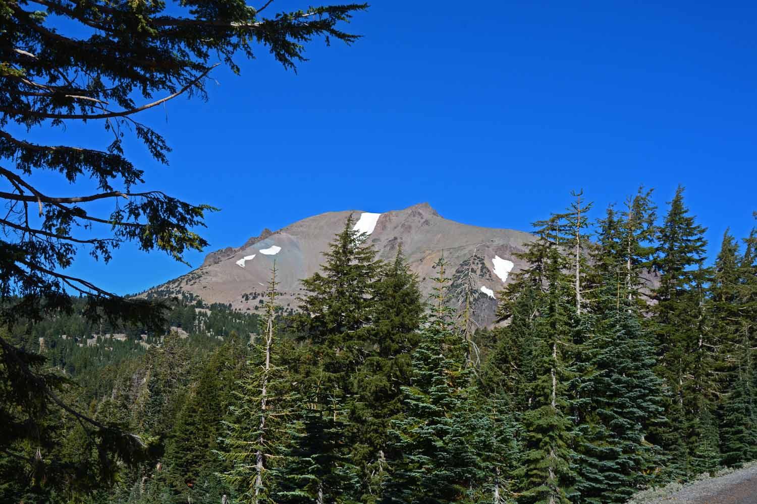 Mountains in Lassen are all volcanic and very active today