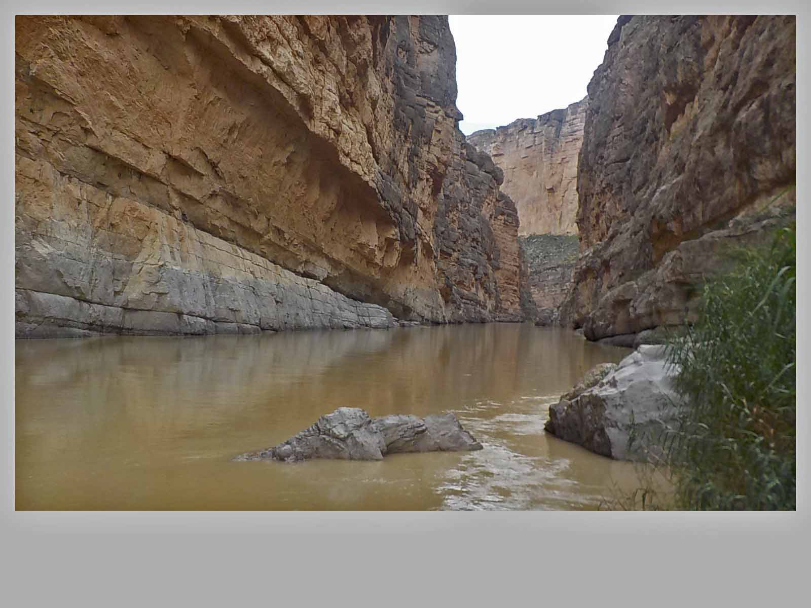 Rio Grande River winds it way through Santa Elena Canyon...getting to the trail you have to wade across the river...yes there were pictures!