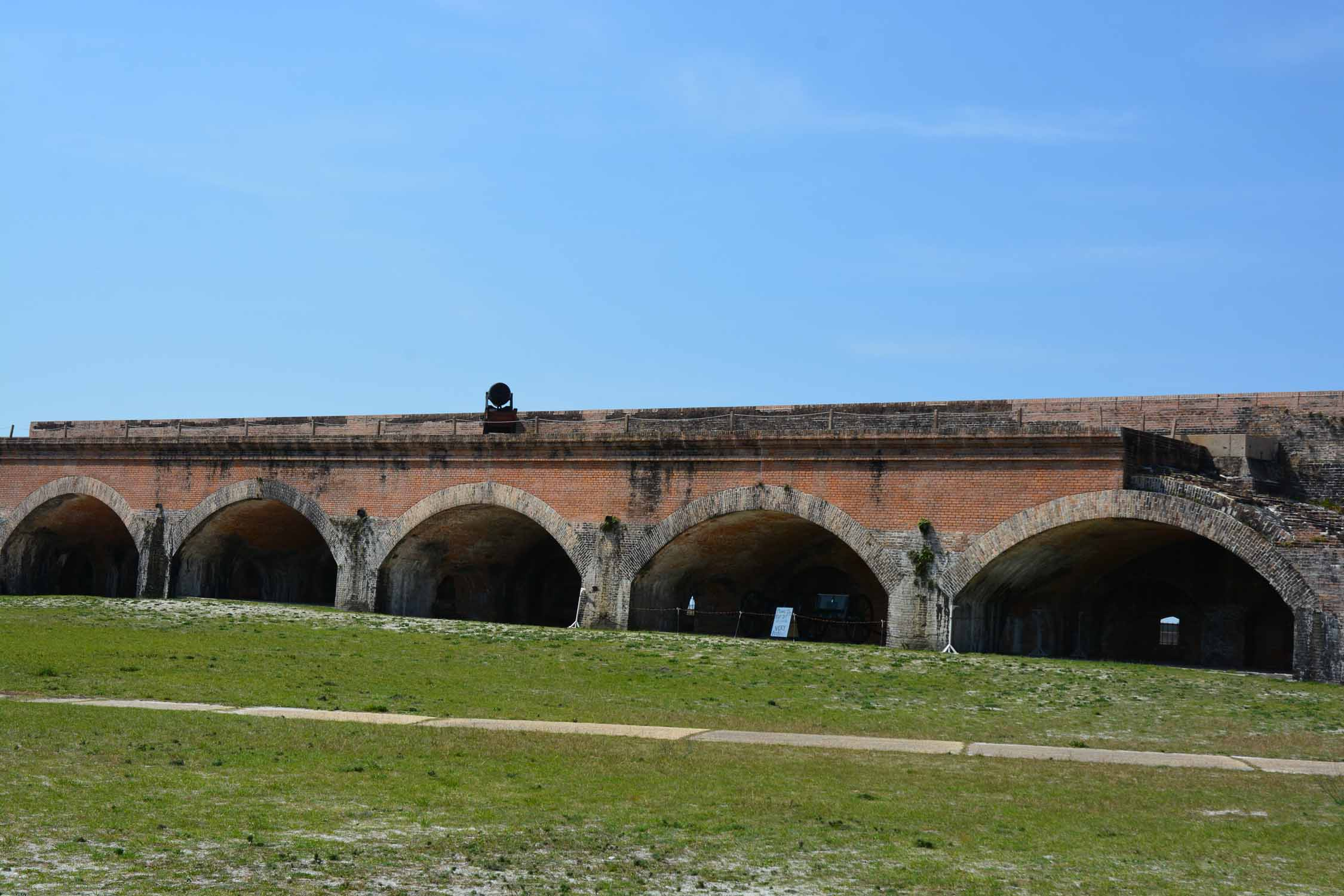 Fort Morgan has many of these buildings with arches