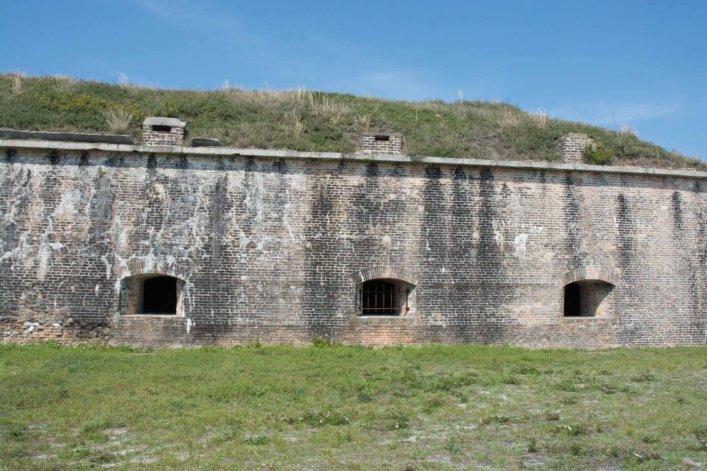 Fort Pickens has withstood the test of time, at least from the outside