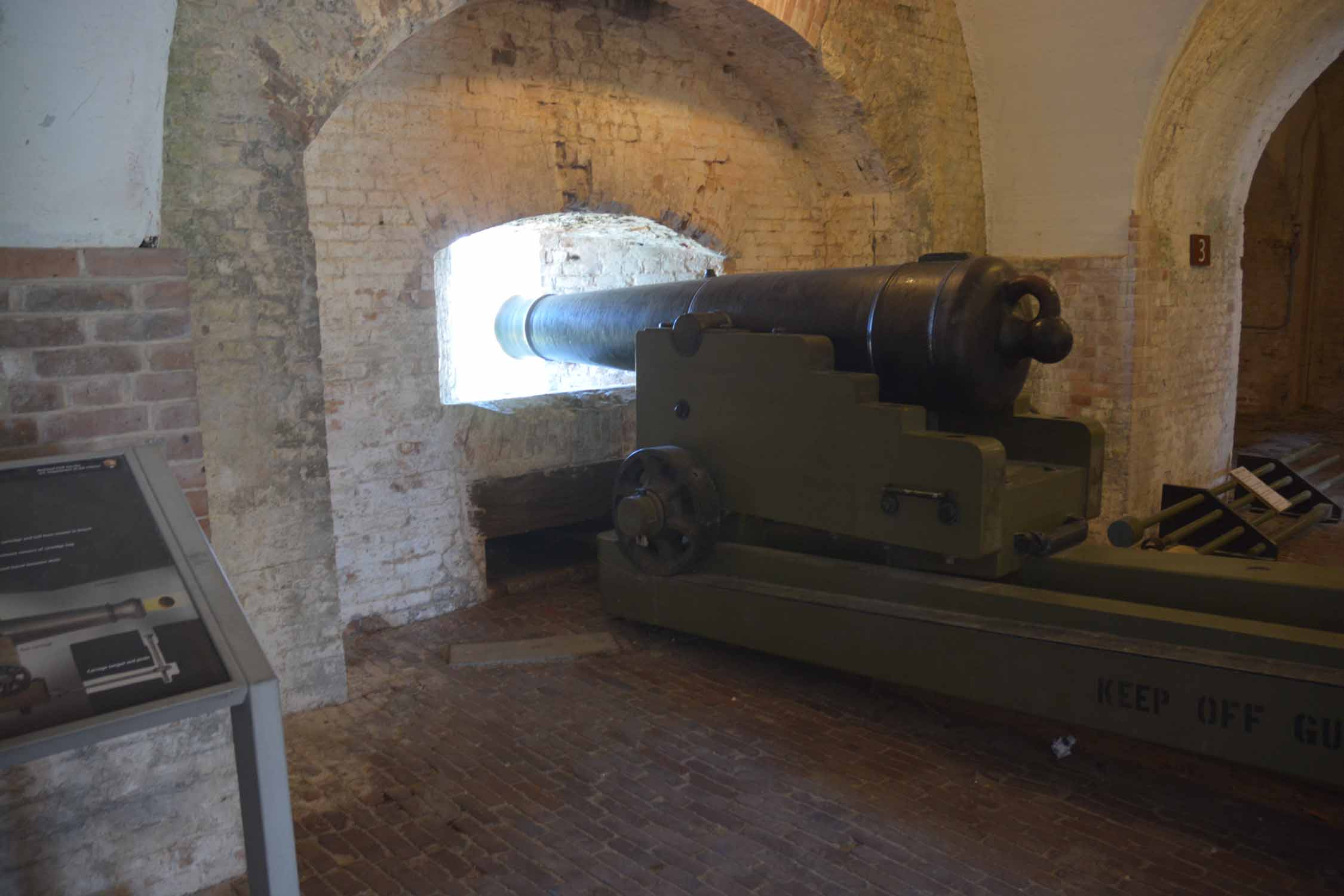 Here is an example of Fort Picken's military role...There are lots of big canons to look at...