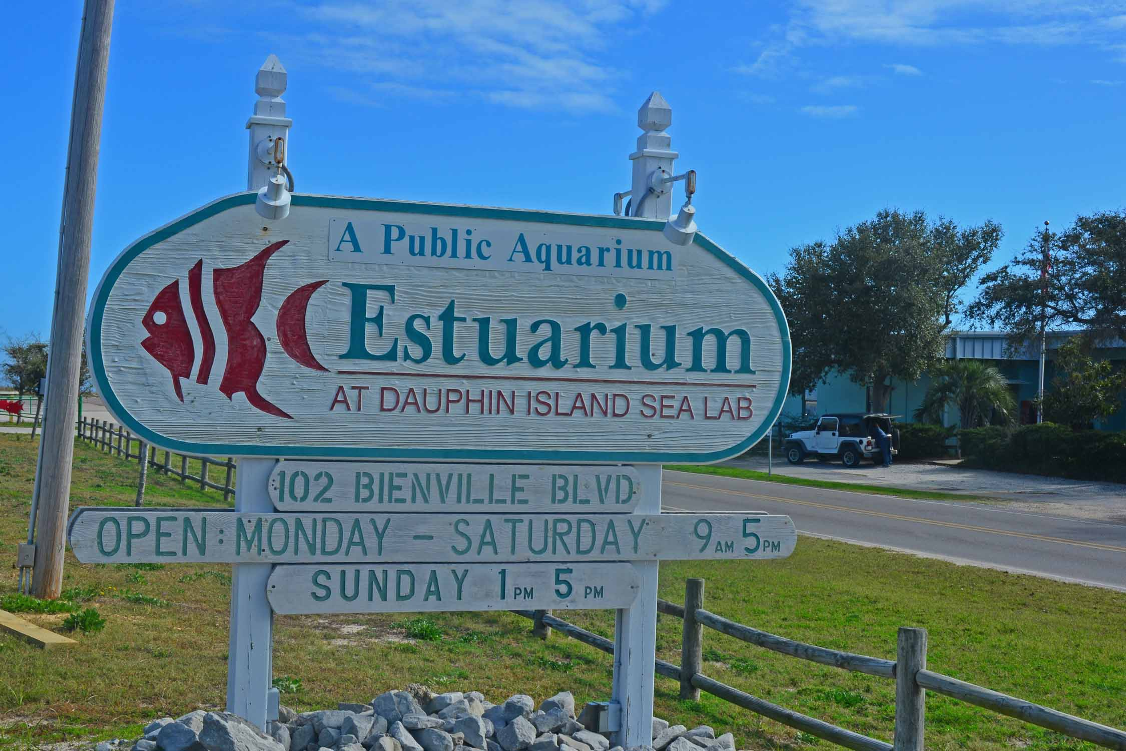 Dauphin Island Estuarium:  very educational and a nice way to spend a morning with NYC visitors.
