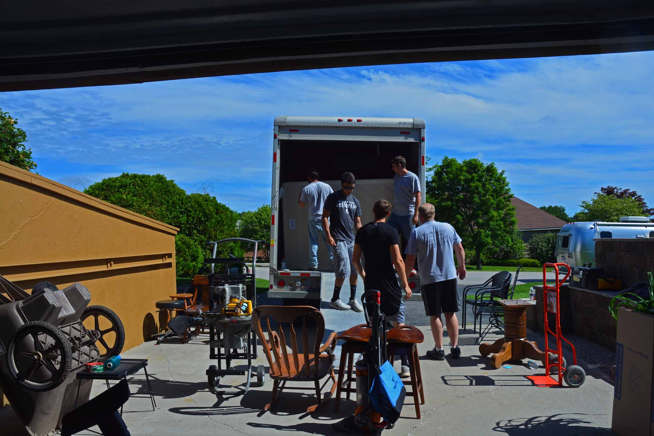 It took six guys two hours to load everything and yes, it all fit on the truck