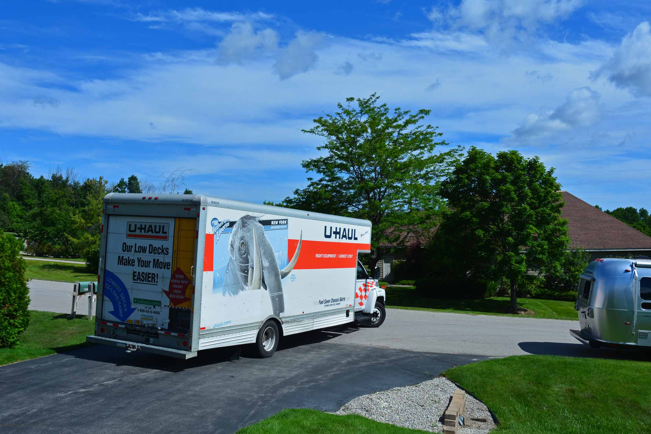 As the U-Haul truck pulls out, we will not be far behind as we all head to South Carolina.  All our worldly possession are headed for a storage unit somewhere in Seneca our expected new home.