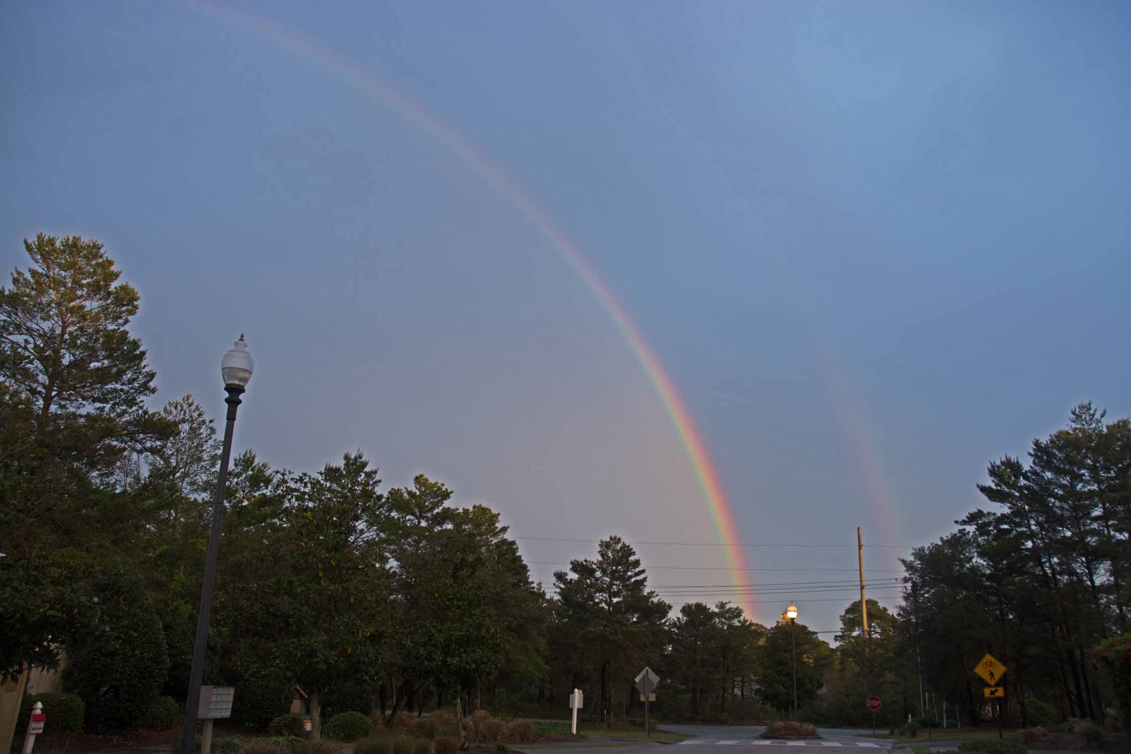 Double rainbow just before we left Alabama